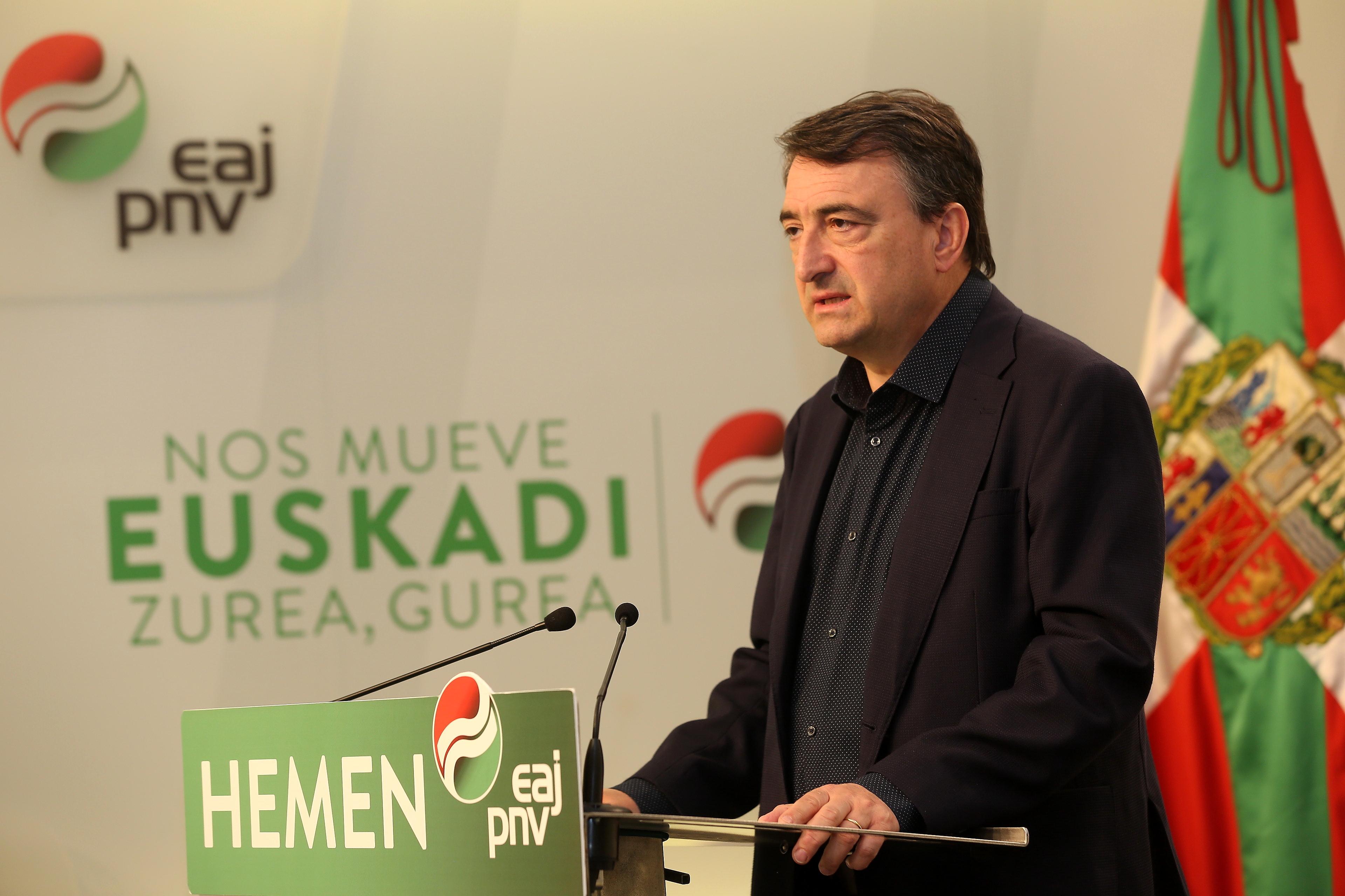 """Aitor Esteban, tras el debate a cuatro: """"Hoy por hoy, el peligro real para el electorado vasco es la posible coalición entre PSOE y Ciudadanos"""""""